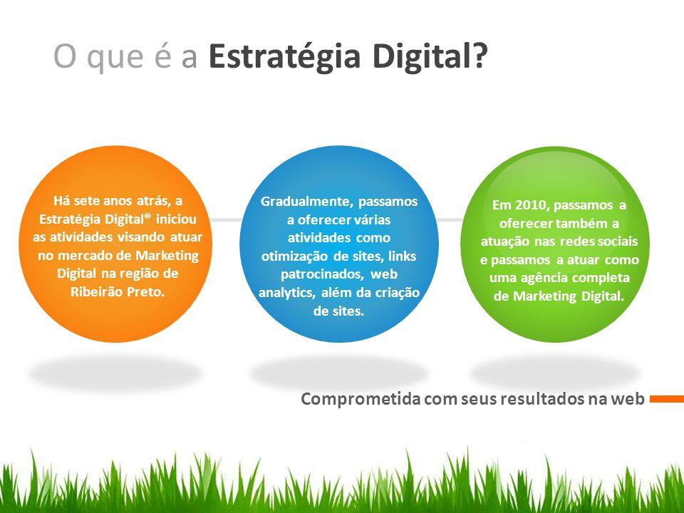 O que é a Estratégia Digital? Comprometida com seus resultados na web Há sete anos atrás, a Estratégia Digital® iniciou as atividades visando atuar no