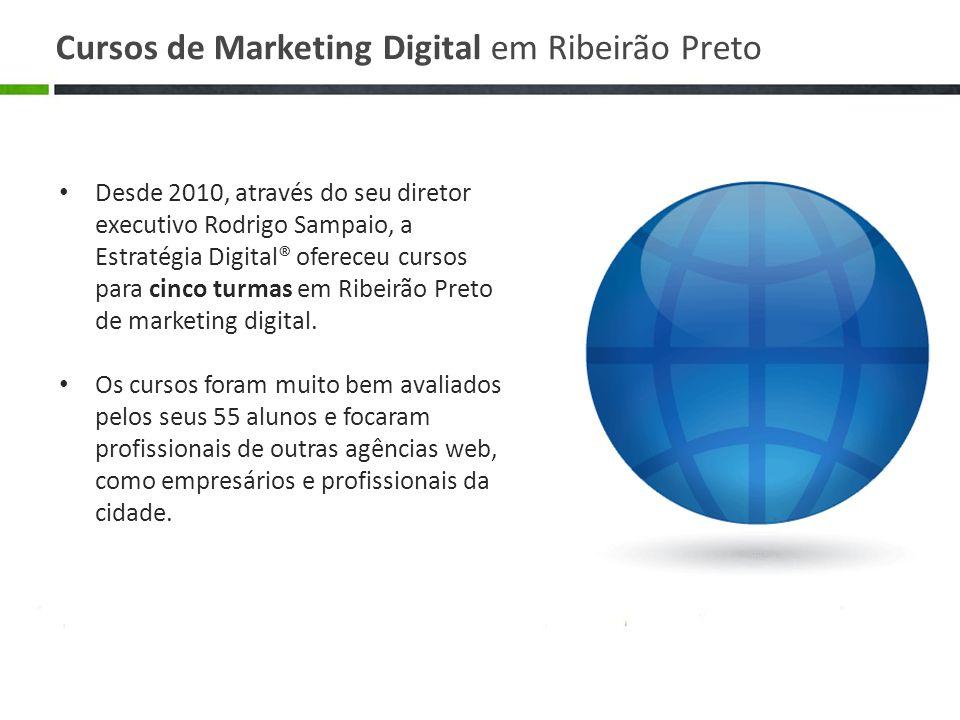 Desde 2010, através do seu diretor executivo Rodrigo Sampaio, a Estratégia Digital® ofereceu cursos para cinco turmas em Ribeirão Preto de marketing d