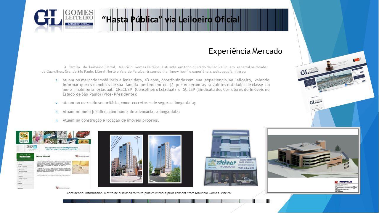 A família do Leiloeiro Oficial, Mauricio Gomes Leiteiro, é atuante em todo o Estado de São Paulo, em especial na cidade de Guarulhos, Grande São Paulo