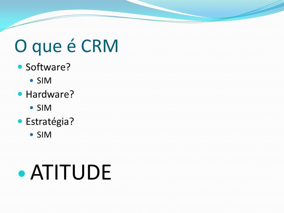 O que é CRM Software? SIM Hardware? SIM Estratégia? SIM ATITUDE