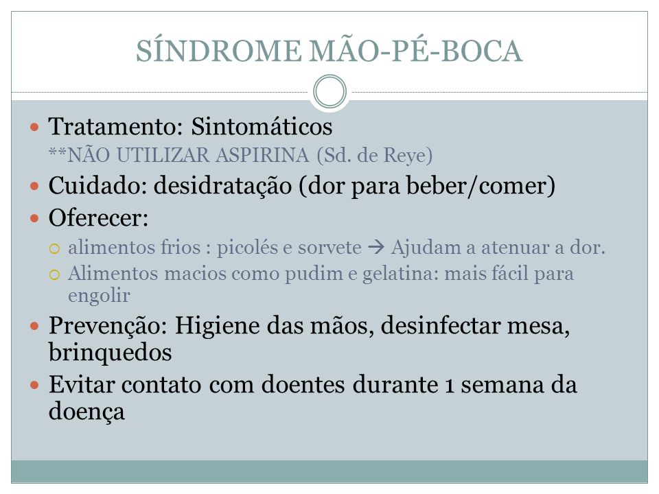 SÍNDROME MÃO-PÉ-BOCA