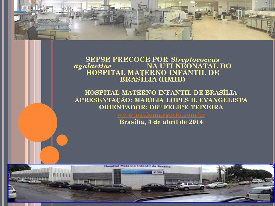 HOSPITAL MATERNO INFANTIL DE BRASÍLIA APRESENTAÇÃO: MARÍLIA LOPES B.