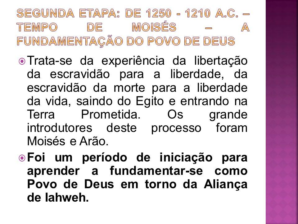 Trata-se da experiência da libertação da escravidão para a liberdade, da escravidão da morte para a liberdade da vida, saindo do Egito e entrando na T
