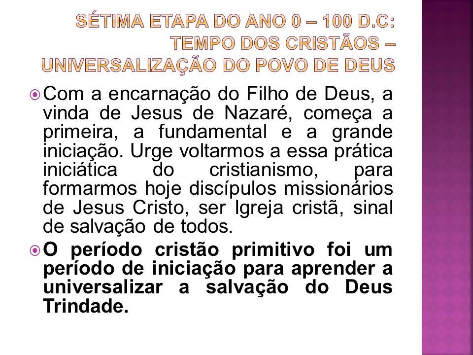 Com a encarnação do Filho de Deus, a vinda de Jesus de Nazaré, começa a primeira, a fundamental e a grande iniciação. Urge voltarmos a essa prática in