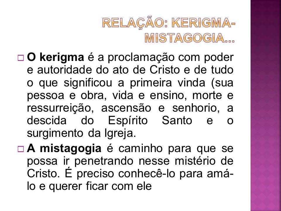 O kerigma é a proclamação com poder e autoridade do ato de Cristo e de tudo o que significou a primeira vinda (sua pessoa e obra, vida e ensino, morte