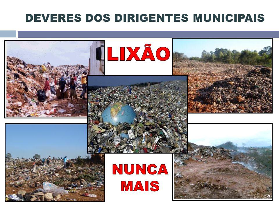 DEVERES DOS DIRIGENTES MUNICIPAIS