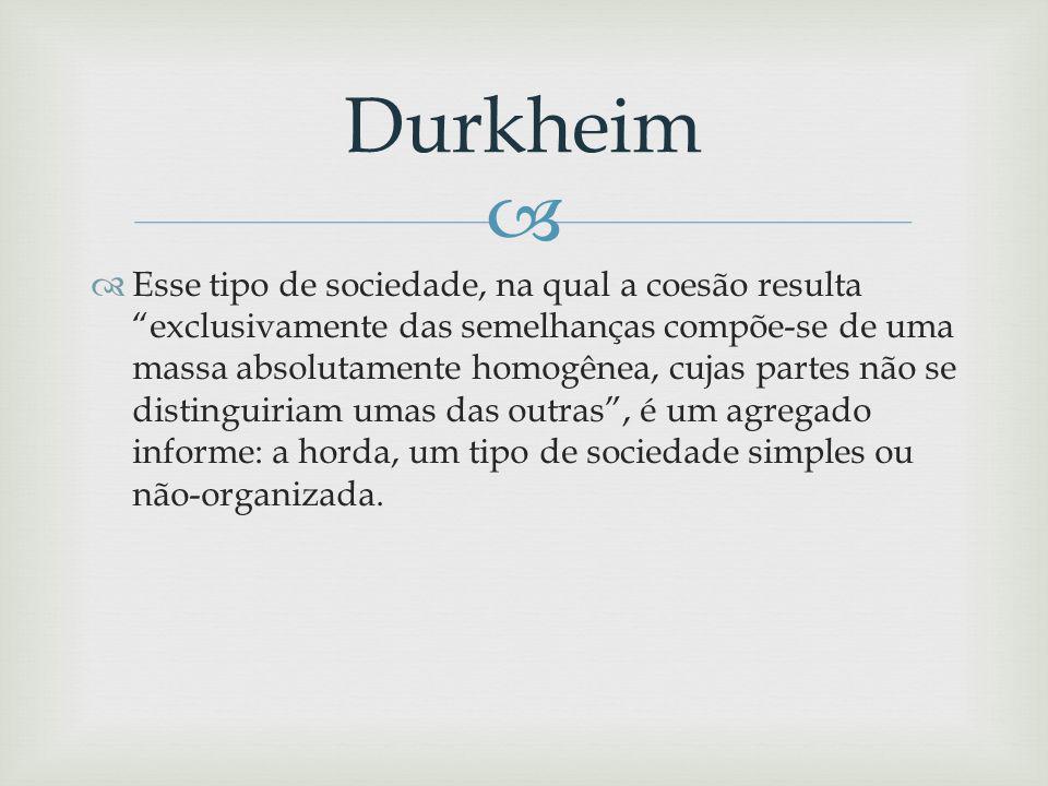 Concretamente, o que Durkheim propõe é que, na medida em que o mercado se amplia, passando do nível municipal ao internacional, caberia à corporação fazer o mesmo, independentemente de determinações territoriais, e consolidar-se num órgão autônomo, habilitado a estabelecer os princípios específicos dos distintos ramos industriais Durkheim