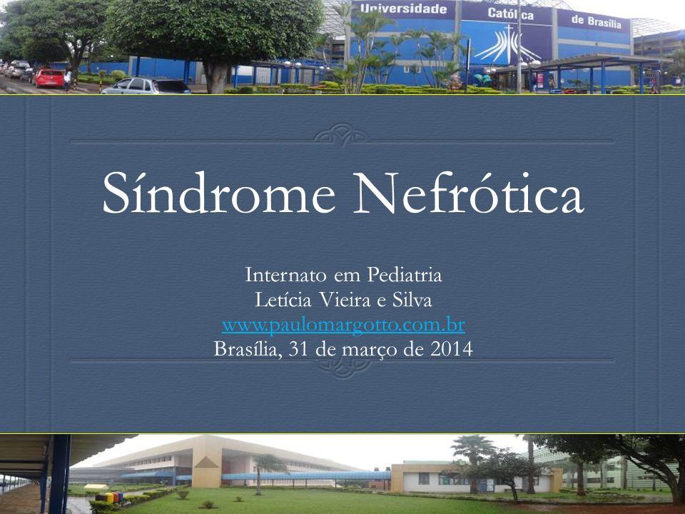 Síndrome Nefrótica Internato em Pediatria Letícia Vieira e Silva www.paulomargotto.com.br Brasília, 31 de março de 2014