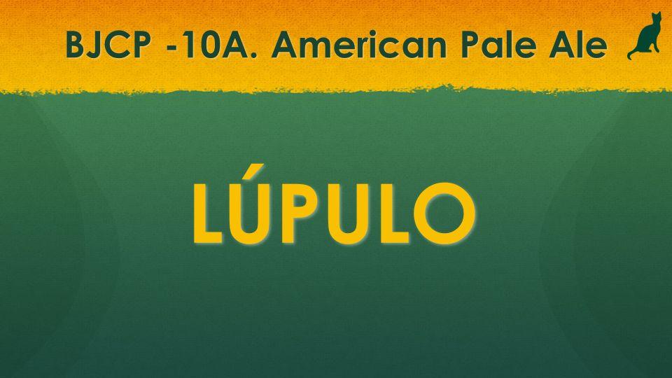 BJCP -10A. American Pale Ale LÚPULO
