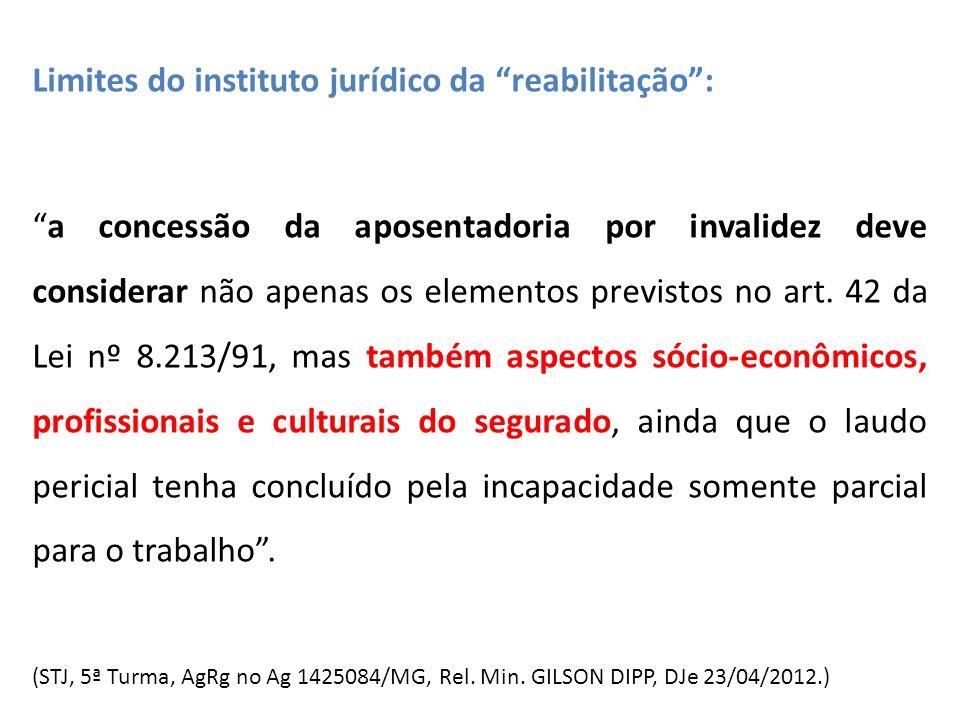 Limites do instituto jurídico da reabilitação: a concessão da aposentadoria por invalidez deve considerar não apenas os elementos previstos no art. 42