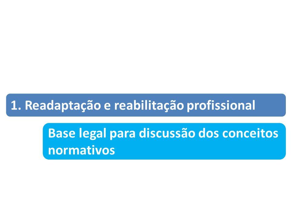 1. Readaptação e reabilitação profissional Base legal para discussão dos conceitos normativos