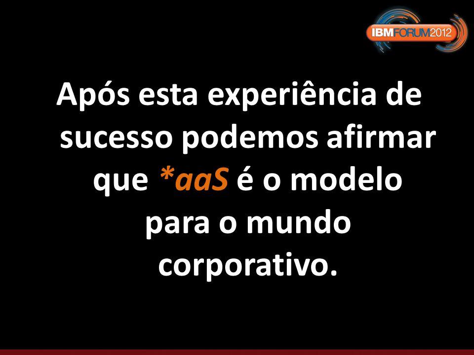 Após esta experiência de sucesso podemos afirmar que *aaS é o modelo para o mundo corporativo.