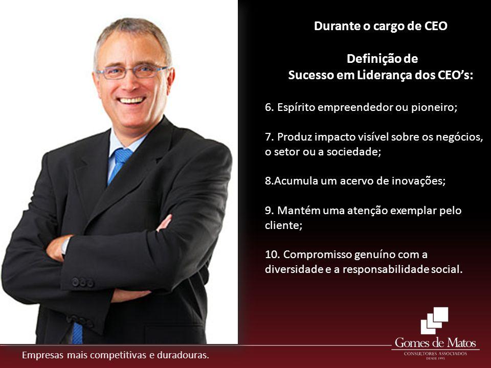 Empresas mais competitivas e duradouras. 6. Espírito empreendedor ou pioneiro; 7. Produz impacto visível sobre os negócios, o setor ou a sociedade; 8.