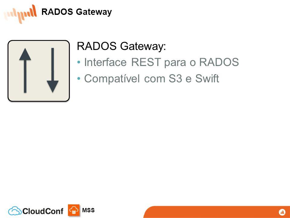 MSS RADOS Gateway: Interface REST para o RADOS Compatível com S3 e Swift RADOS Gateway