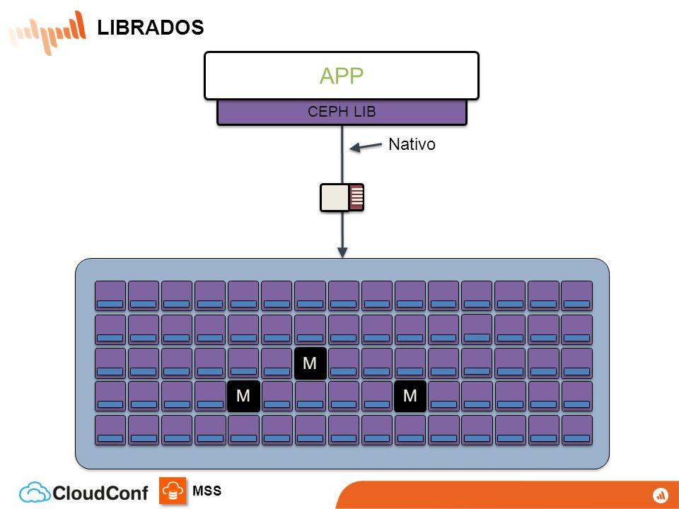 MSS L L 8 LIBRADOS Acesso nativo C, C++, Python, PHP, Java Sem HTTP overhead LIBRADOS