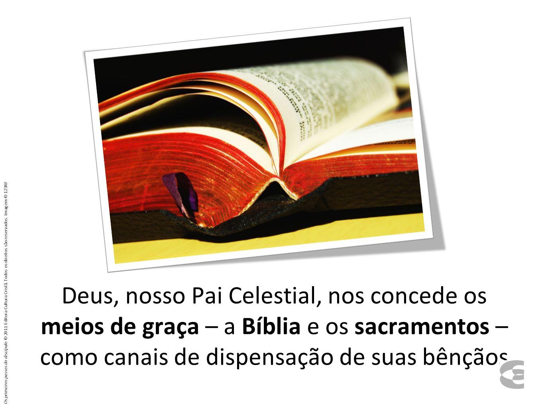 Deus, nosso Pai Celestial, nos concede os meios de graça – a Bíblia e os sacramentos – como canais de dispensação de suas bênçãos Os primeiros passos