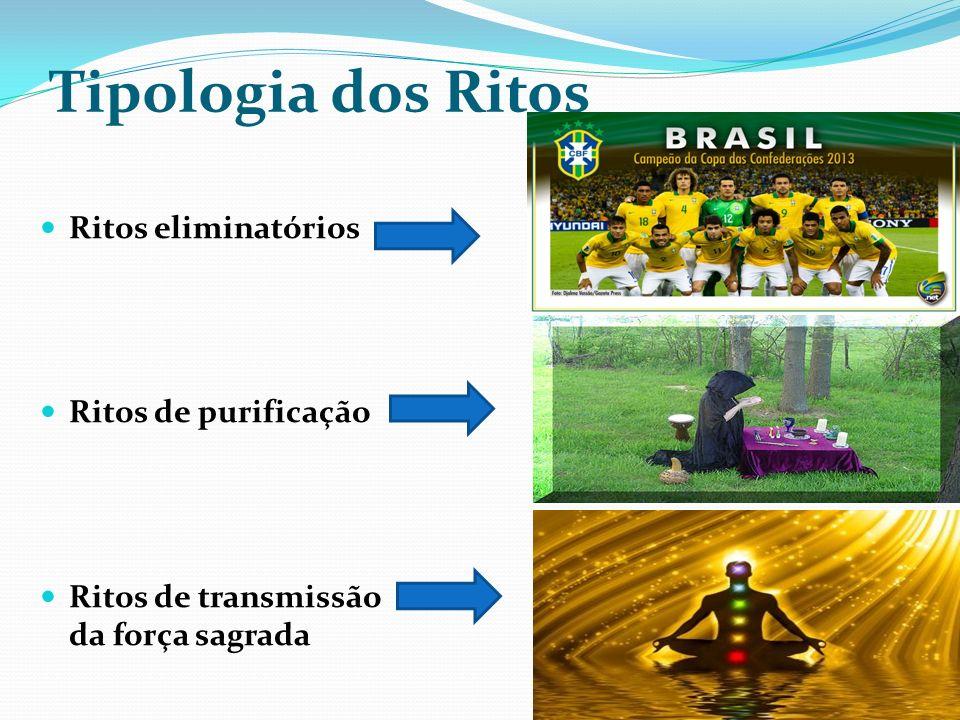Tipologia dos Ritos Ritos eliminatórios Ritos de purificação Ritos de transmissão da força sagrada