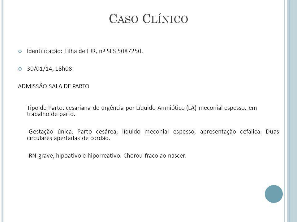 C ASO C LÍNICO Identificação: Filha de EJR, nº SES 5087250.