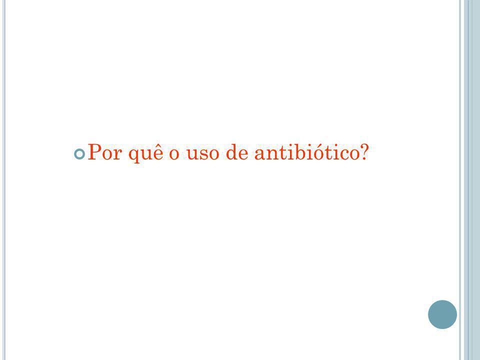 Por quê o uso de antibiótico?