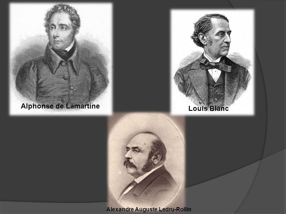 Louis Blanc Alphonse de Lamartine Alexandre Auguste Ledru-Rollin