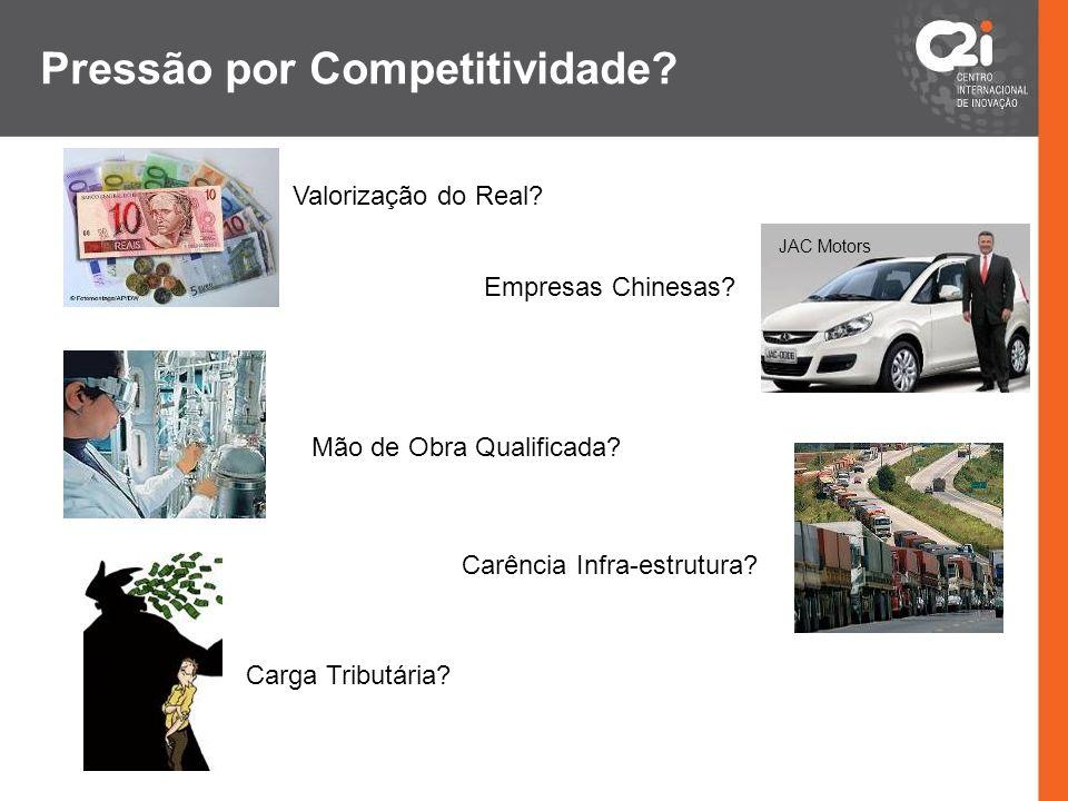Pressão por Competitividade? Valorização do Real? Empresas Chinesas? Mão de Obra Qualificada? Carga Tributária? JAC Motors Carência Infra-estrutura?