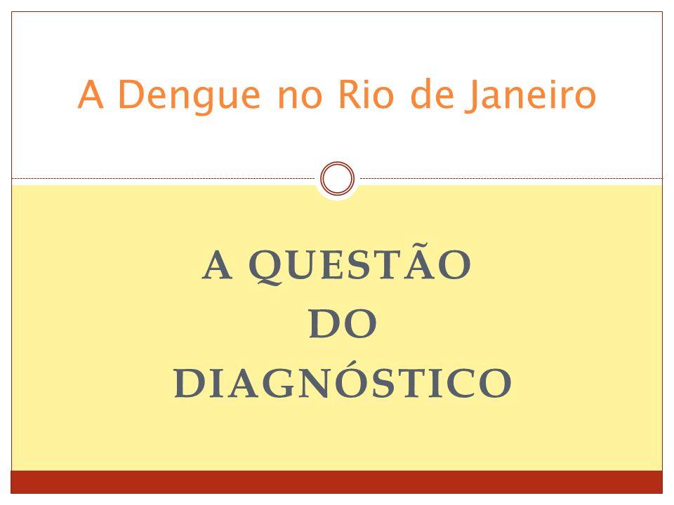 A QUESTÃO DO DIAGNÓSTICO A Dengue no Rio de Janeiro