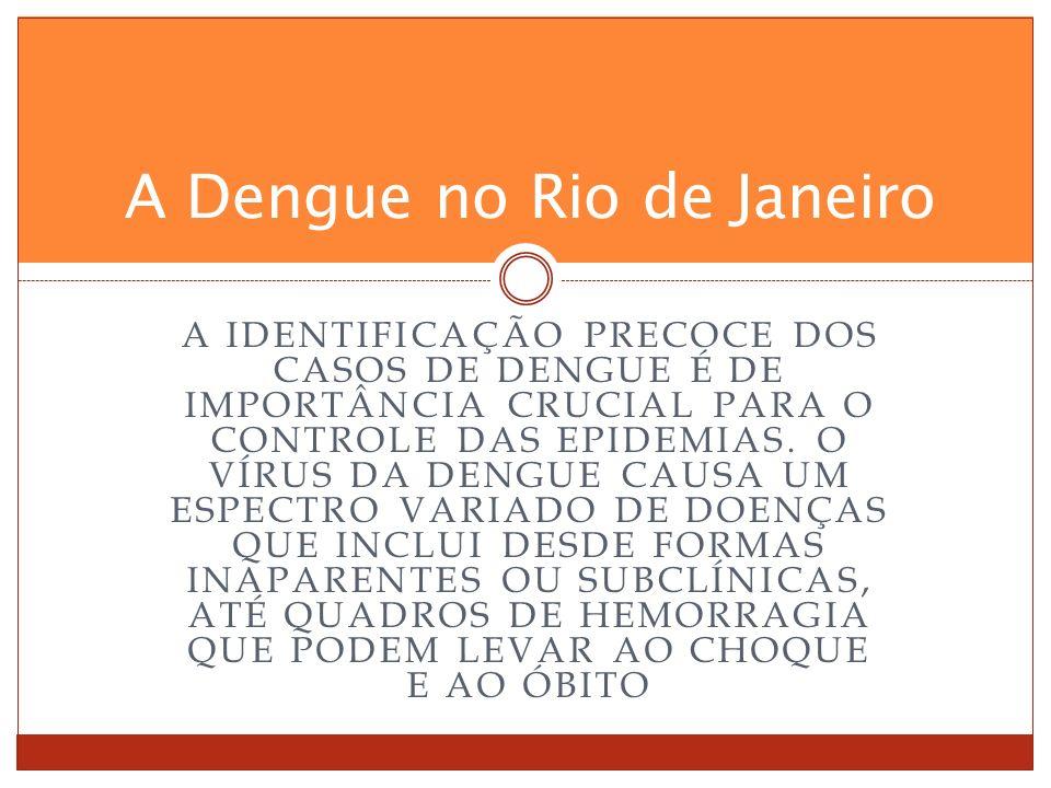 A IDENTIFICAÇÃO PRECOCE DOS CASOS DE DENGUE É DE IMPORTÂNCIA CRUCIAL PARA O CONTROLE DAS EPIDEMIAS.