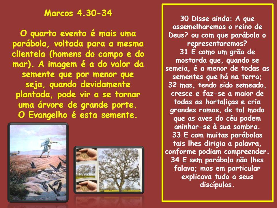 30 Disse ainda: A que assemelharemos o reino de Deus? ou com que parábola o representaremos? 31 É como um grão de mostarda que, quando se semeia, é a