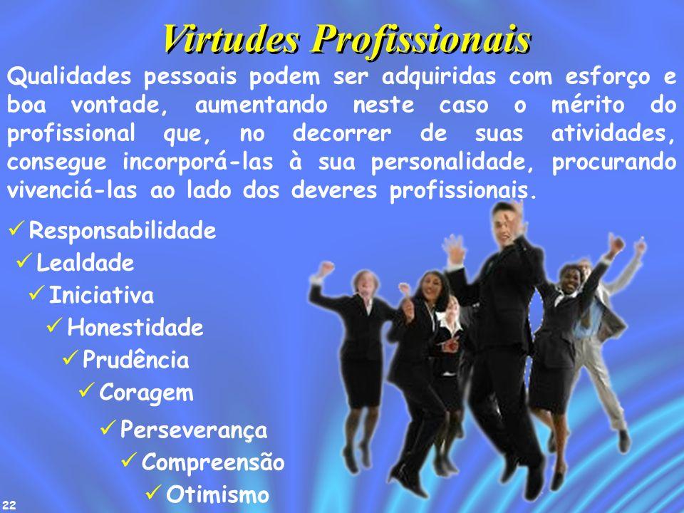 22 Qualidades pessoais podem ser adquiridas com esforço e boa vontade, aumentando neste caso o mérito do profissional que, no decorrer de suas ativida