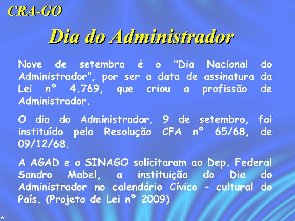 7 É a Inscrição do bacharel em Administração no CRA.