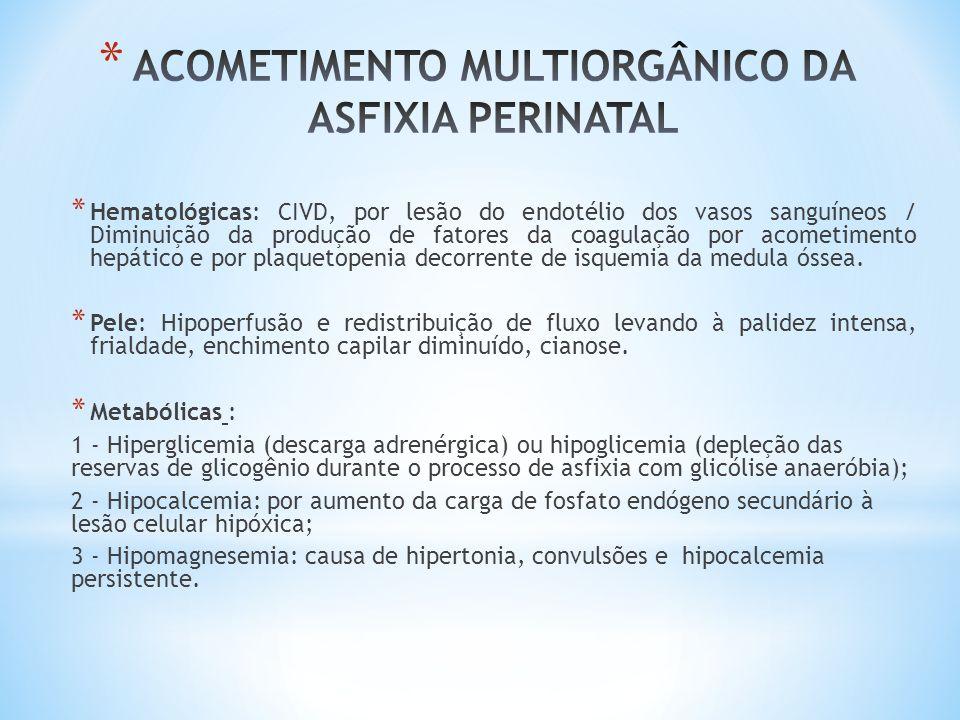* Hematológicas: CIVD, por lesão do endotélio dos vasos sanguíneos / Diminuição da produção de fatores da coagulação por acometimento hepático e por p