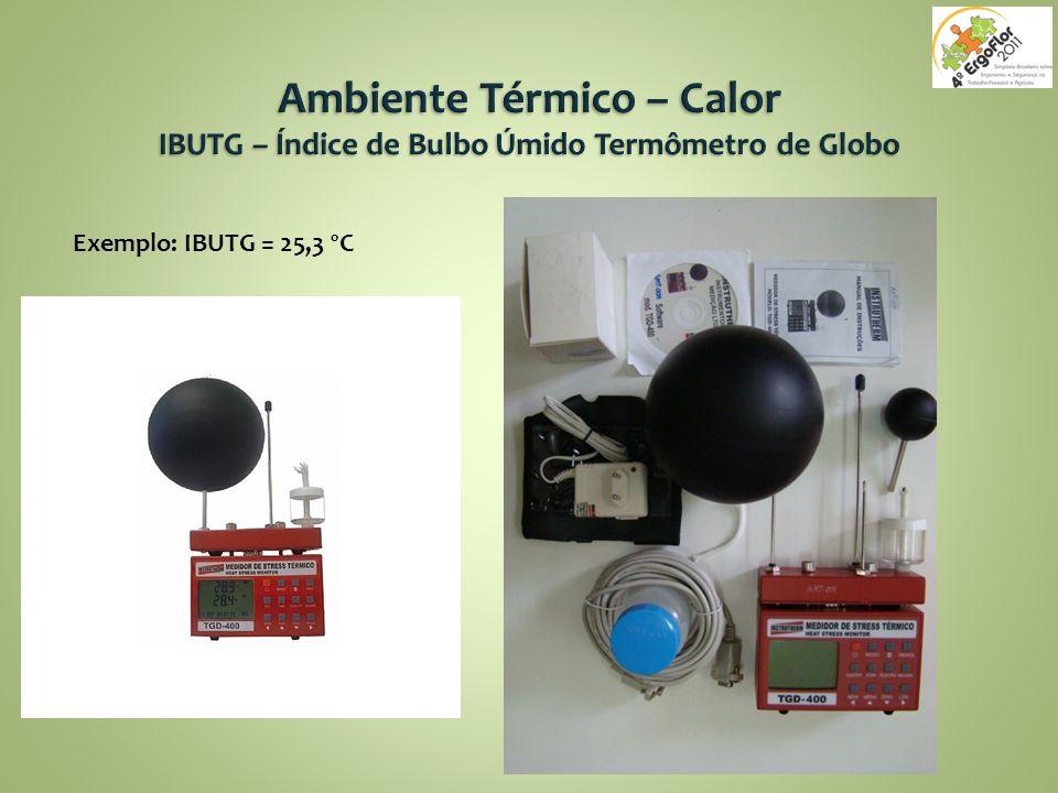 Exemplo: IBUTG = 25,3 ºC