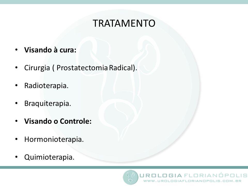 TRATAMENTO Visando à cura: Cirurgia ( Prostatectomia Radical).