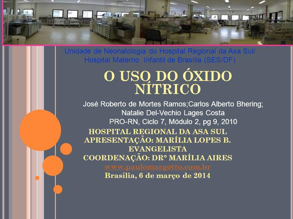 HOSPITAL REGIONAL DA ASA SUL APRESENTAÇÃO: MARÍLIA LOPES B. EVANGELISTA COORDENAÇÃO: DR° MARÍLIA AIRES www.paulomargotto.com.br Brasília, 6 de março d