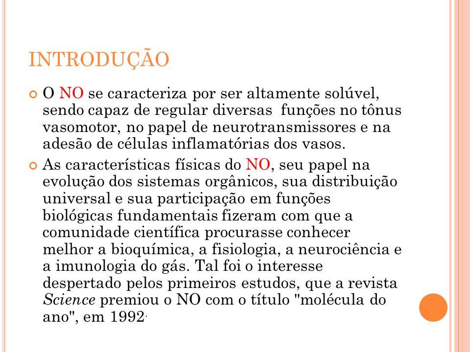 Oxido Fisiopatologia Indicações de uso Dose preconizada nítrico Estratégias para utilização Toxicidade Óxido nítrico na HPP Inalado em R N Óxido nitrico inalado no tratamento de RNPT Considerações finais