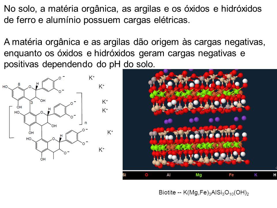 A floculação dos coloides é importante na formação da estrutura e diferenciação dos horizontes.