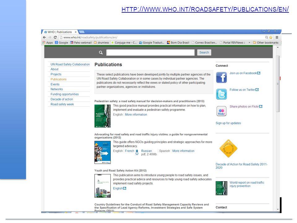 HTTP :// WWW. WHO. INT / ROADSAFETY / PUBLICATIONS / EN /