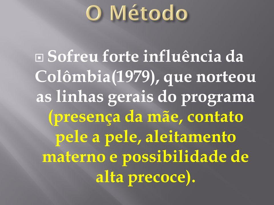 Sofreu forte influência da Colômbia(1979), que norteou as linhas gerais do programa (presença da mãe, contato pele a pele, aleitamento materno e possi