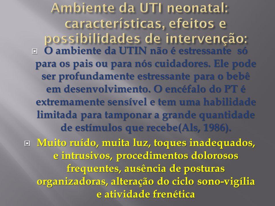 O ambiente da UTIN não é estressante só para os pais ou para nós cuidadores. Ele pode ser profundamente estressante para o bebê em desenvolvimento. O
