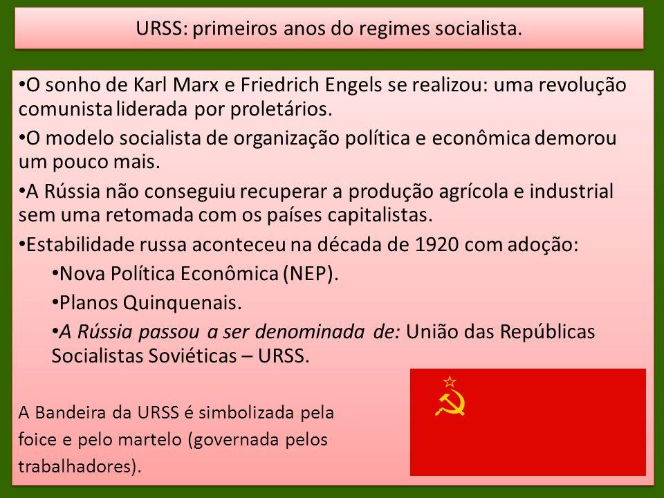 O sonho de Karl Marx e Friedrich Engels se realizou: uma revolução comunista liderada por proletários. O modelo socialista de organização política e e