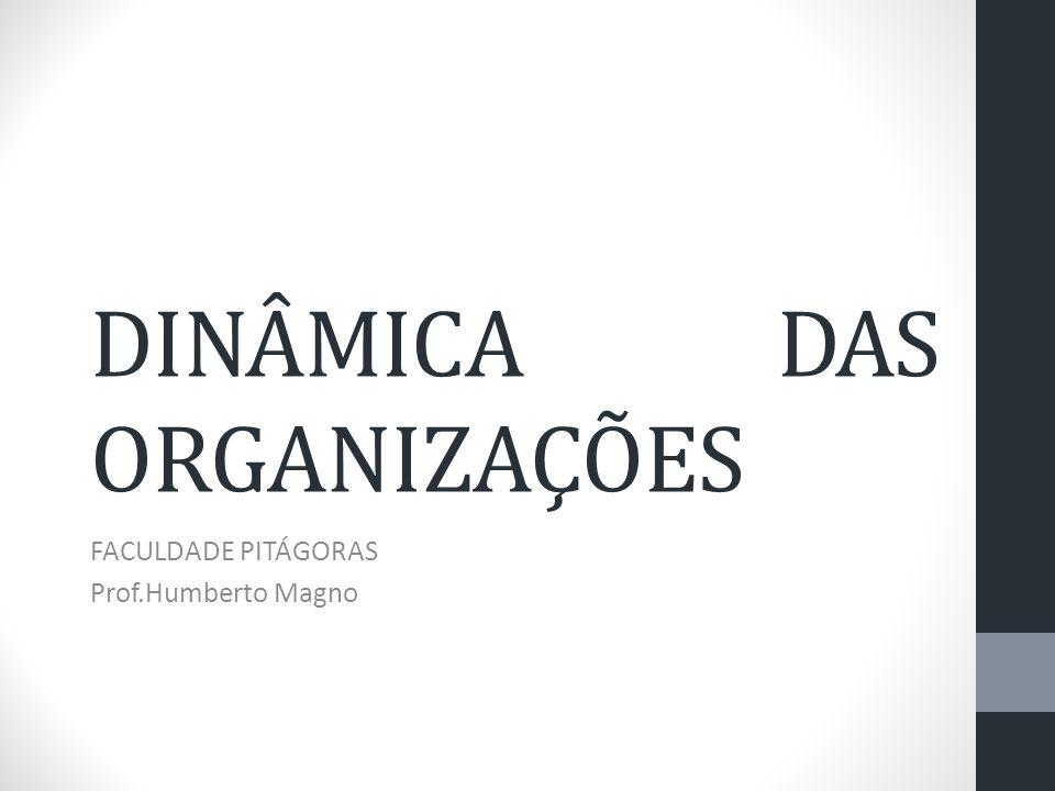 DINÂMICA DAS ORGANIZAÇÕES FACULDADE PITÁGORAS Prof.Humberto Magno