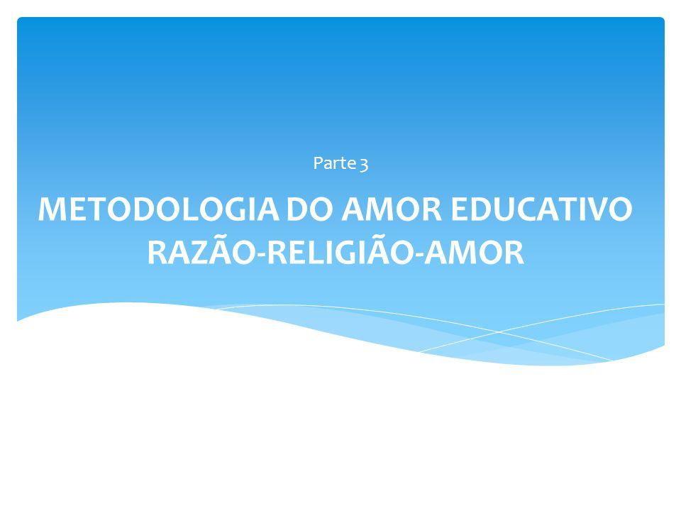 METODOLOGIA DO AMOR EDUCATIVO RAZÃO-RELIGIÃO-AMOR Parte 3