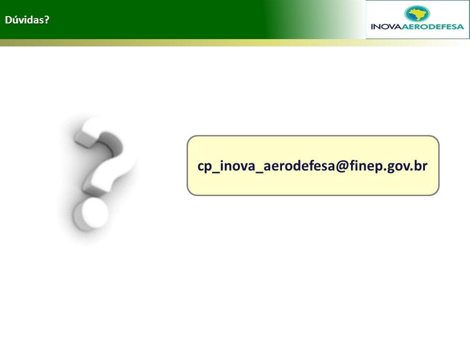 Dúvidas? cp_inova_aerodefesa@finep.gov.br