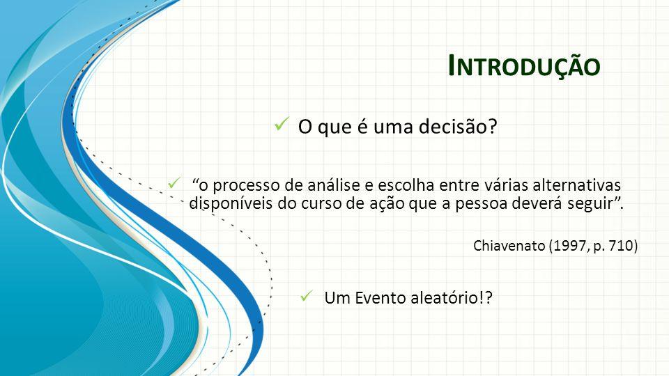 I NTRODUÇÃO Decisões a Nível Empresarial!