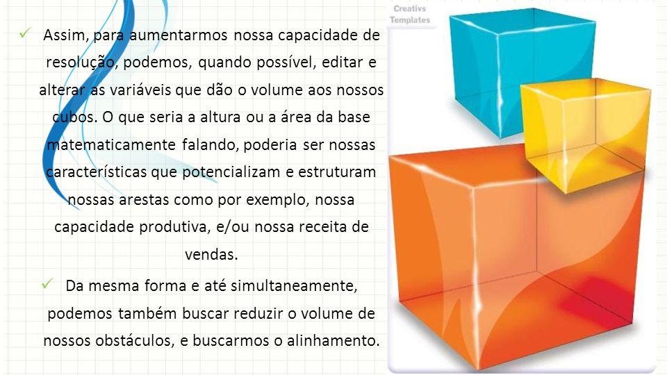Assim, para aumentarmos nossa capacidade de resolução, podemos, quando possível, editar e alterar as variáveis que dão o volume aos nossos cubos. O qu