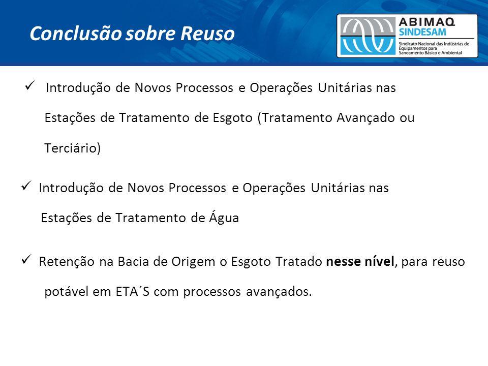 Introdução de Novos Processos e Operações Unitárias nas Estações de Tratamento de Esgoto (Tratamento Avançado ou Terciário) Introdução de Novos Proces