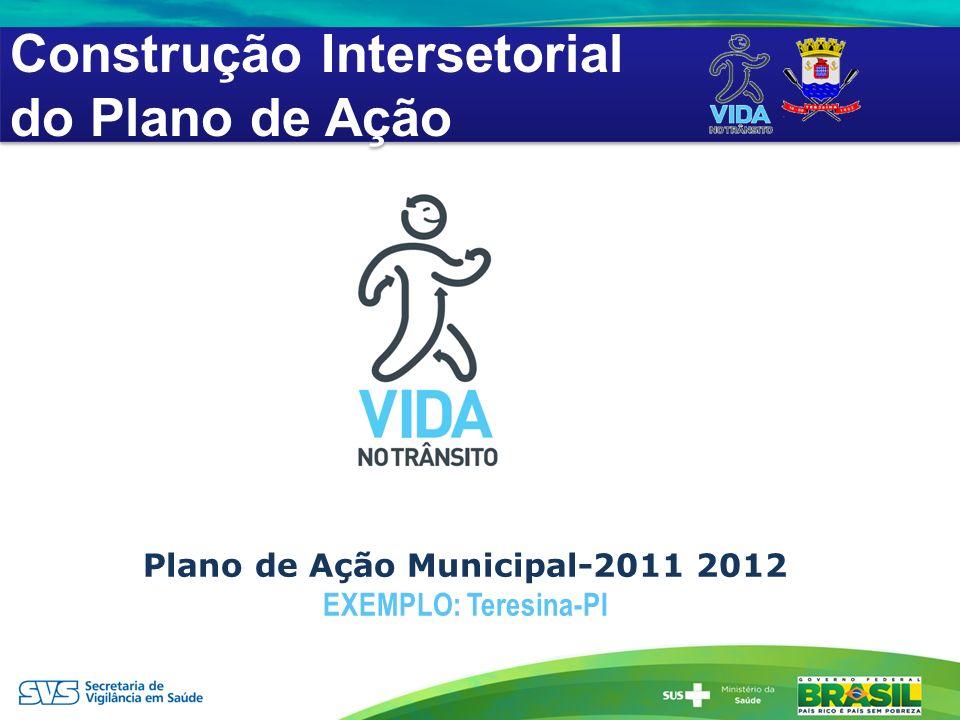 Plano de Ação Municipal-2011 2012 EXEMPLO: Teresina-PI Construção Intersetorial do Plano de Ação Construção Intersetorial do Plano de Ação