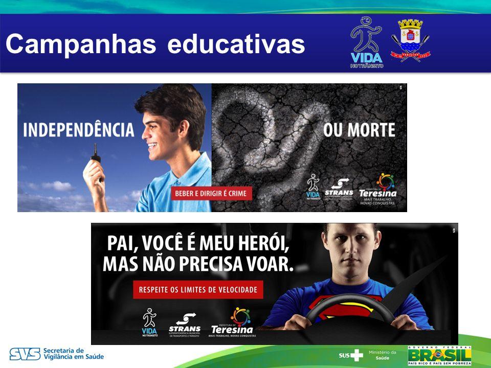 AÇÕES EDUCATIVAS Campanhas educativas