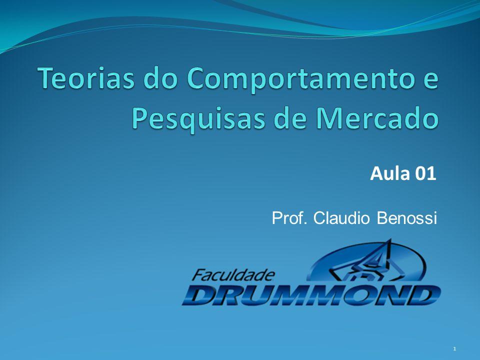 Aula 01 Prof. Claudio Benossi 1