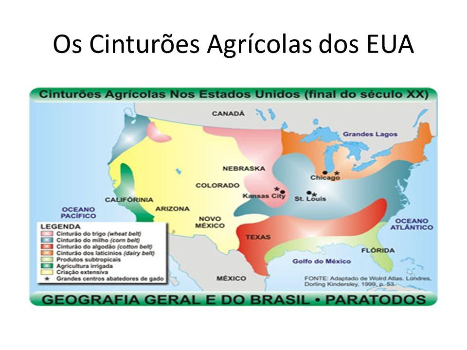 Os Cinturões Agrícolas dos EUA